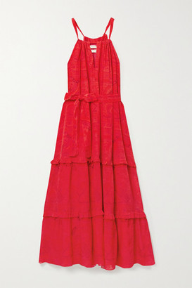 Chufy - Huancayo Tiered Printed Crepe De Chine Maxi Dress - XS/S