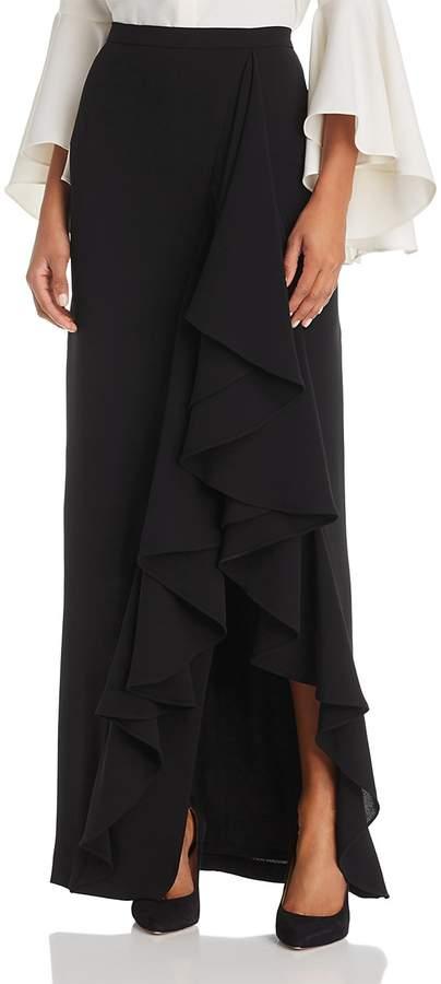 Eliza J Ruffle Trim Maxi Skirt