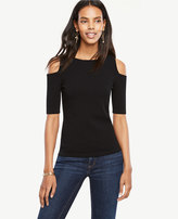Ann Taylor Petite Cold Shoulder Sweater