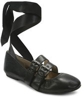 Luxury Rebel Sari Lace-Up Nappa Leather Ballet Flats