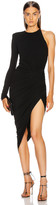 Alexandre Vauthier One Shoulder Asymmetric Dress in Black | FWRD