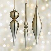 Crate & Barrel Shiny Gold Drop Ornaments