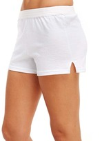 Soffe White V-Notch Shorts