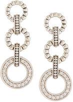 Lagos Enso Pave Diamond Triple-Circle Drop Earrings