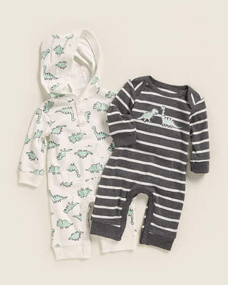 Little Me Newborn Boys) Two-Piece Dinosaur Bodysuit Set