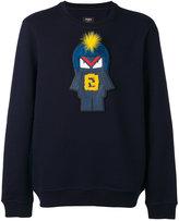 Fendi embroidered sweatshirt - men - Cotton/Wool - 48
