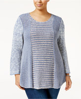 Style&Co. Style & Co. Plus Size Marled Sweater, Only at Macy's