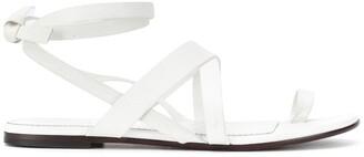 Emilio Pucci Crossover Strap Sandals
