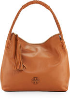 Tory Burch Taylor Pebbled Leather Zip-Top Hobo Bag