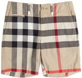 Burberry Check Cotton Twill Shorts