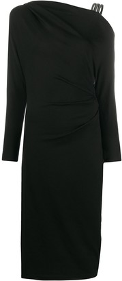 Brunello Cucinelli Asymmetric Neck Dress