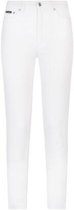 Dolce & Gabbana Logo Patch Skinny Jeans