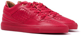 Android Homme Omega Low Red Woven Leather Trainers