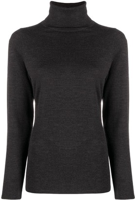 Allude Fine Knit Roll Neck Jumper