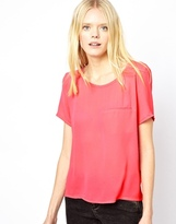 American Vintage Round Neck Top - Candy