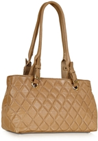 Fontanelli Quilted Leather Satchel Bag