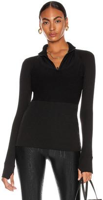 ALALA Rise Quarter Zip Top in Black | FWRD