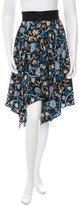 J.W.Anderson Floral Print Silk Skirt