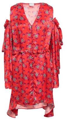 Magda Butrym Cold-shoulder Floral-print Satin-crepe Mini Dress