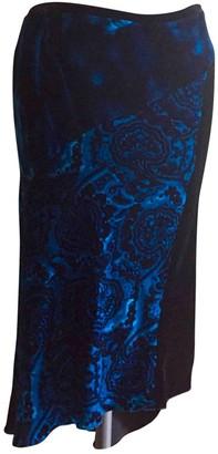 Pinko Blue Velvet Skirt for Women