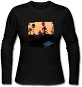 LSADMING Women's Eagles Hotel California Rock Long Sleeve T Shirt
