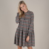 Molly Bracken Short Graphic Print Dress with Long Sleeves