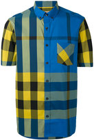 Burberry check short sleeve shirt - men - Cotton/Polyamide/Spandex/Elastane - S