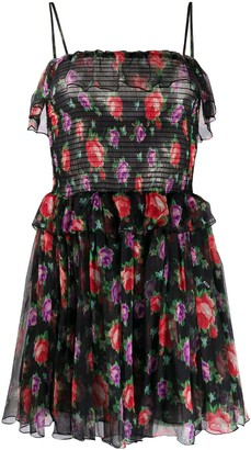 MSGM Roses floral-print ruffled dress