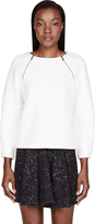 Marc by Marc Jacobs Ivory Quilted Cleo Sweatshirt