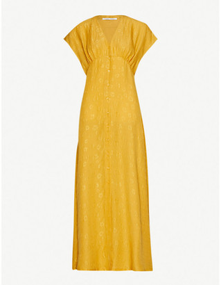 Samsoe & Samsoe Valerie jacquard-print silk maxi dress