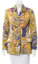 Salvatore Ferragamo Silk Printed Jacket