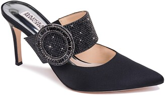 Badgley Mischka Collection Ellie Buckle Pointy Toe Mule