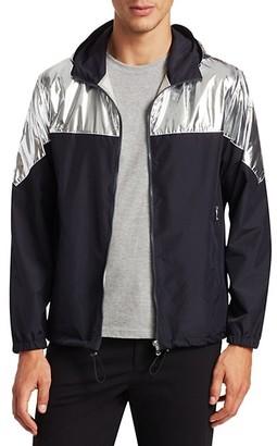 Saks Fifth Avenue MODERN Metallic Colorblock Jacket