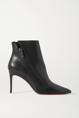 Christian Louboutin Birgikate 85 Leather Ankle Boots - Black