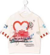 Burberry ice cream van print T-shirt