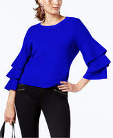 INC International Concepts I.n.c. Petite Tiered-Sleeve Sweater, Created for Macy's