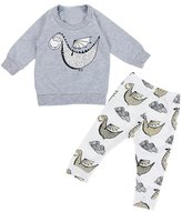 Doinshop 1Set Baby Boys Cute Dinosaur Printed Sweatshirt Tops+Pants (6M, )