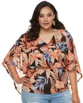 JLO by Jennifer Lopez Plus Size Mesh Cape Top