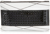 L.A.M.B. Jana Studded Leather Clutch Bag, White