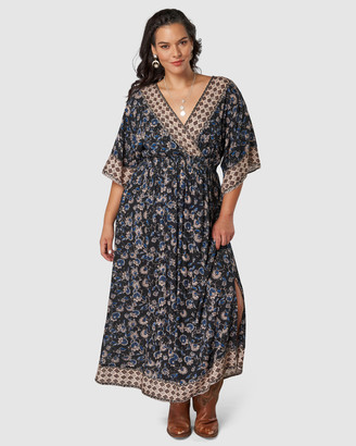 The Poetic Gypsy - Women's Black Maxi dresses - Icebergs Print Maxi Dress - Size One Size, 10 at The Iconic