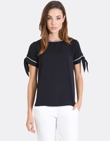 Forcast Bambi Short-Sleeved Tie Top