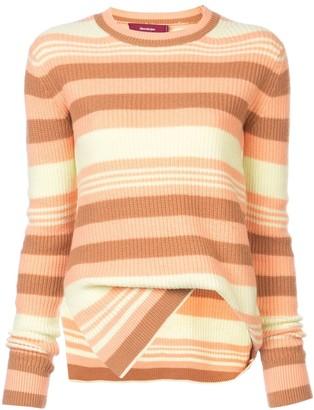 Sies Marjan Asymmetric Striped Sweater