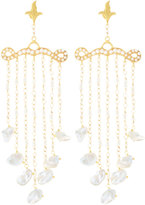 Azaara Florentine Pearl-Chain Chandelier Earrings