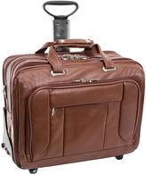 McKlein McKleinUSA West Town 15.6 Leather Fly-Through Checkpoint-Friendly Detachable -Wheeled Laptop Briefcase