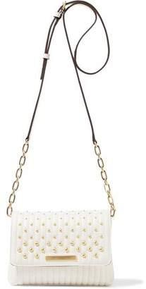 Donna Karan Studded Quilted Leather Shoulder Bag