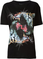 Marcelo Burlon County of Milan tiger print T-shirt - women - Cotton - S