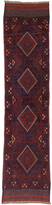 Ecarpetgallery Hand-knotted Tajik Caucasian Blue Red Wool Runner Rug (1'10 x 7'7)