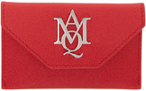 Alexander McQueen Red Insignia Envelope Card Holder