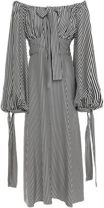 Zimmermann Off-the-shoulder Striped Twill Midi Dress
