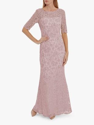Gina Bacconi Selina Embroidered Maxi Dress, Pink